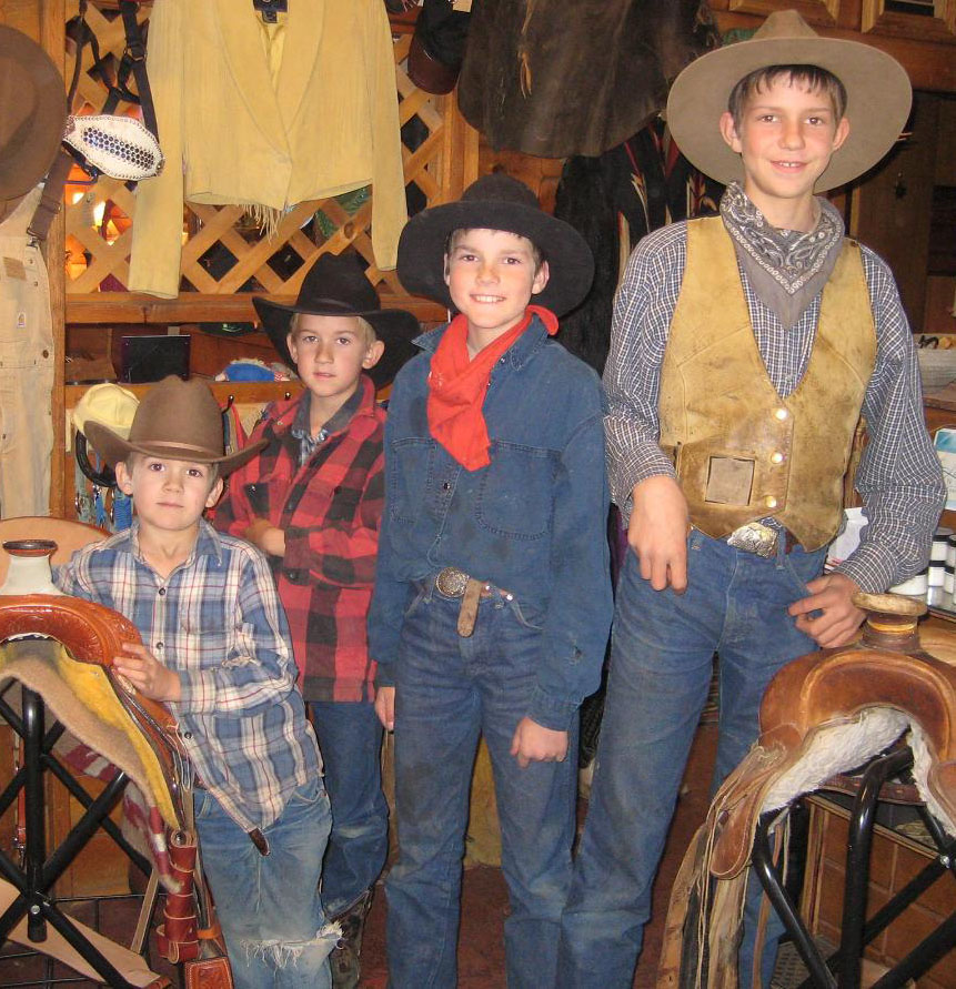 4 local cowboys hanging out at Crazy Horse in Lolo